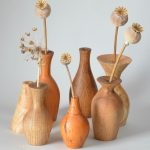 Small vases turned from Irish-grown wood
